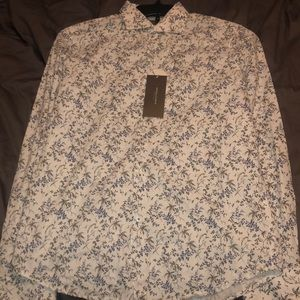 Denim & Flower Slim Fit Long Sleeve Button Up